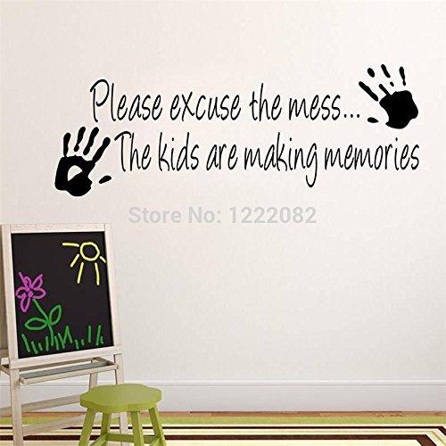 5.0 Wall (FairyTeller Wholesale Making Memories Vinyl Wall Sticker Home Decor Creative Quote Wall Decals Z002 Kids Room Removable Cartoon Wall Art 5.0)