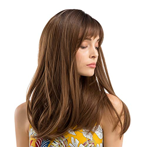 Longt Synthetic Curly Hair Wigs Girls Beautiful Generous Sweet With Hair -
