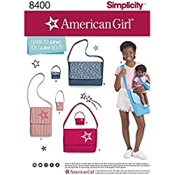 Simplicity Sewing Pattern D0678 / 8400 - American Girl Learn-To-Sew Bags, OS (ONE SIZE)