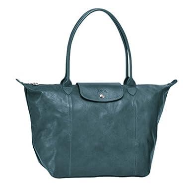 Image Unavailable. Image not available for. Color  LONGCHAMP Le Pliage Cuir  Large Leather Top Shoulder Bag ... 07b9fad3c9