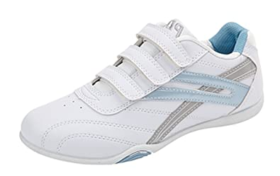 0cd9193059ea7 WOMENS LADIES VELCRO TRAINERS TRAINING SHOES WHITE SIZE UK 3 - 8
