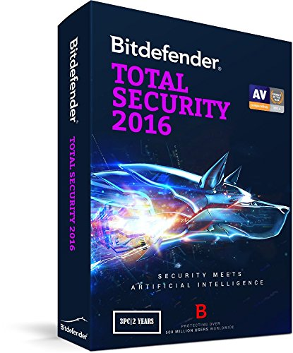 BITDEFENDER TOTAL SECURITY 2016 3PC / OVER 2 YEARS SERIAL KEY /...