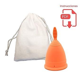 Copa Menstrual Clásica - Certificada por la FDA - Bolsa de algodón de regalo - Alternativa a los tampones ...