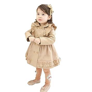 3272e955cf406 GoGokids 子供服 キッズ服 女の子服 女の子 女児 キッズ アウター フリル オータム トレンチコート 子供