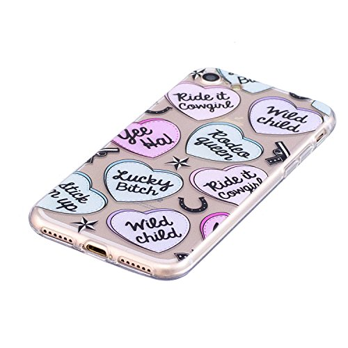iPhone 7 Hülle Liebesbrief Premium Handy Tasche Schutz Transparent Schale Für Apple iPhone 7 + Zwei Geschenk