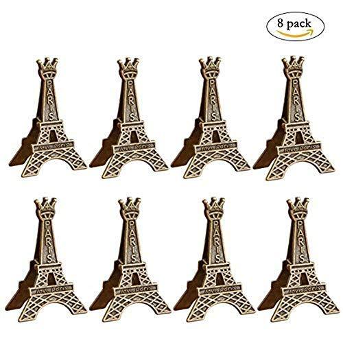 Wangyue Vintage Eiffel Tower Card Holder Clips Table Number Holder (8 PCS) (Tower Eiffel Desk)