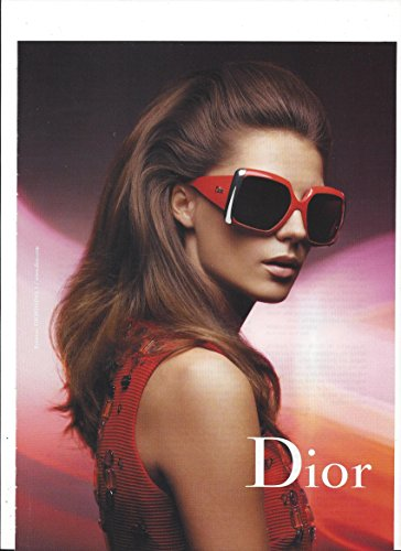 **PRINT AD** With Daria Werbowy For 2008 Dior Red Sunglasses **PRINT - Sunglasses Daria