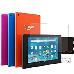 TECHGEAR [2 Pack Screen Protectors for Amazon Fire HD 8 Tablet with Alexa (2015-2018) – Clear Screen Protector for Fire…