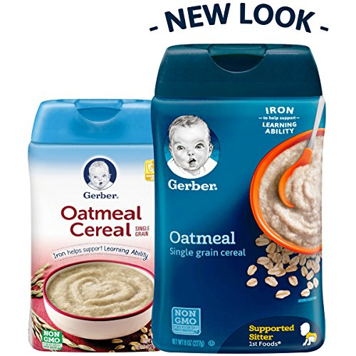Gerber Cereal Single-Grain Oatmeal Baby Cereal, Oz (Pack