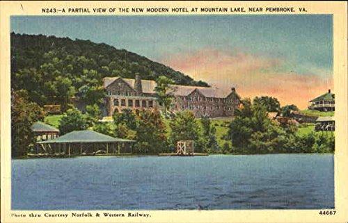Partial View Of The New Modern Hotel, Mountain Lake Pembroke, Virginia Original Vintage - Lakes Pembroke