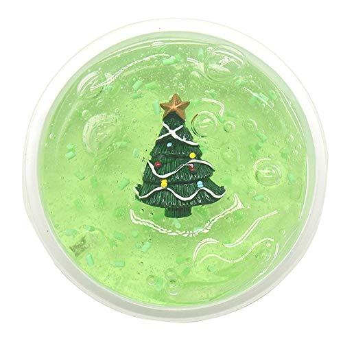 VOWUA Slime Christmas Series Snowman Reindeer Christmas Tree Crystal Slime Putty Relieve Stress Kids Clay -