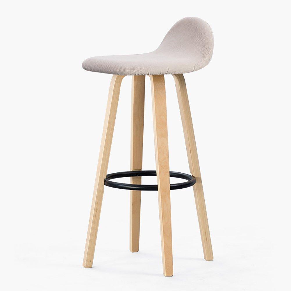 2 33cmX33cmX69.5cm TLMY Bar Chair Wrought Iron Bar Chair Home Bar Stools Solid Wooden Stool Chair (color   3, Size   33cmX33cmX69.5cm)
