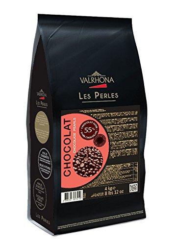 Valrhona Chocolate Pearls 55% 4kg Bag