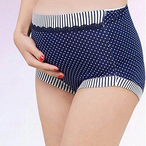 Feoya Braguitas de Premamás Ropa Interior de Mujer Maternidad Embarazo Alta Cintura Apoyo Abdomen Azul oscuro
