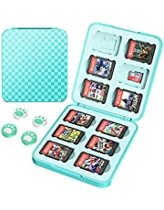 HEYSTOP Game Card Case Compatible with Nintendo Switch Cartridges Holder Carrying Storage Case Box, Portable Thin Hard Shell Box with 12 Cartridge Slots for 12 Micro SD/SDHC/TF Card, Turquoise