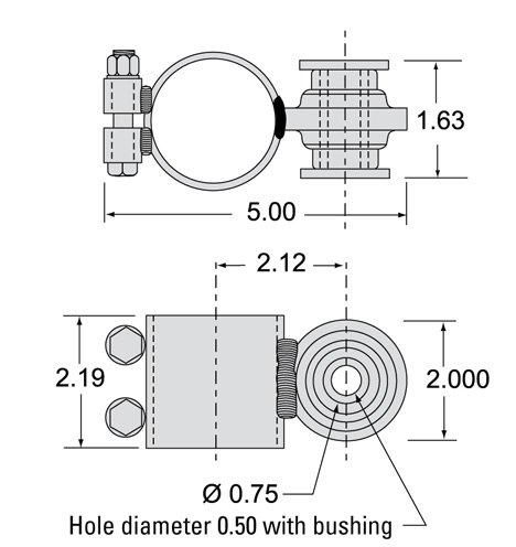 Thomson 7821783 - Kit: Side Mount Brkt - 1500x23; - -