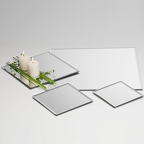 SANDRA RICH - Bandeja Espejo Cuadrada 15x15x0,5h e.6