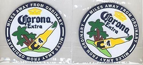Corona Extra Rubber Bar Coasters Spill Mats set of 2 by ()