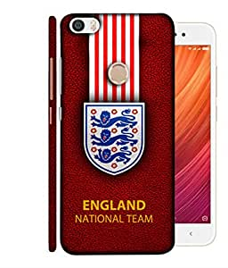 ColorKing Football England 22 Red shell case cover for Xiaomi Redmi Y1 / Note 5A / Note 5A Prime