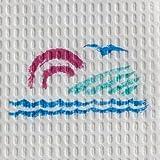 Seascape Towel, 13-1/2'' x 18'', 3-Ply 500 pk