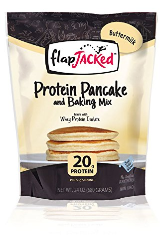(FlapJacked Protein Pancake & Baking Mix, Buttermilk, 24oz)