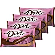 DOVE PROMISES Valentine Milk Chocolate Candy Hearts 8.87-Ounce Bag (Pack of 4)