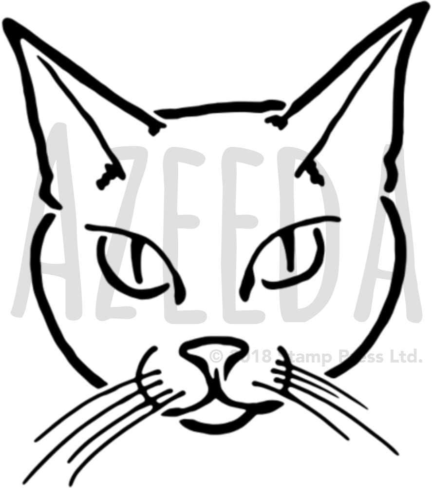 A5 Cara de Gato Plantilla de Pared / Estarcir (WS00038252): Amazon.es: Juguetes y juegos