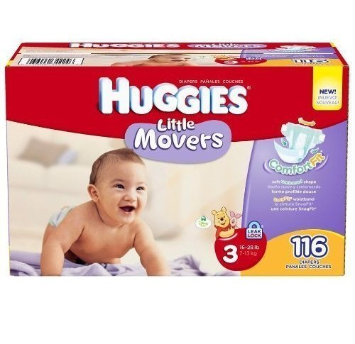 Huggies Little Movers Diapers Junior Pack - Size 3 116ct.