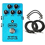 MXR M234 Analog Chorus Pedal with 2 Patch Cables and 2 Instrument Cables