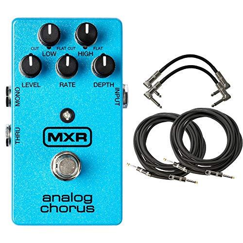 MXR M234 Analog Chorus Pedal Bundle with 4 Cables