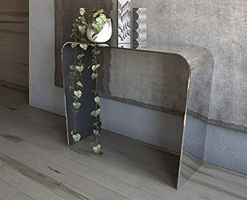 Victa Glas Konsolentisch Für Eingang Oder Wohnzimmer Schräge Beine Cm 112 X  35 X H.