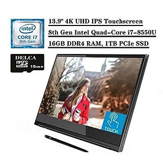 "2020 Flagship Lenovo Yoga c930 2 in 1 Laptop, 13.9"" 4K UHD IPS Touchscreen, Intel 4-Core i7-8550U, 16GB RAM 1TB PCIe SSD, FP Backlit KB Thunderbolt Pen Win 10 + Delca 16GB Micro SD Card"