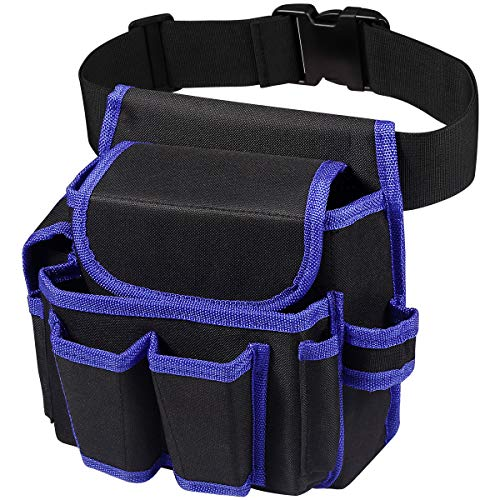 Tool Belt 600D Oxford Electrician Tool Belt Comfortable & Adjustable Tool Belt Pouch with 51.2IN/130CM Belt for…