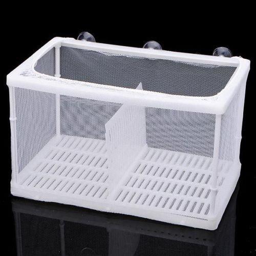 takestop salle d'accouchement à filet double 16x 17x 14,5cm avec ventouses nid Reproduction petits poissons aquarium croissance alevins ovovipari MOON 1003173