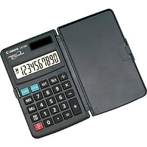 Canon LS-10E - Calculadora de bolsillo (10 dígitos, 1 año de garantía, solar y pilas)