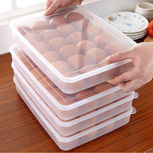 Zondam Eggs Dispenser Covered Egg Holder for 2 Dozen 24 Eggs]()
