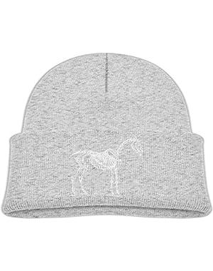 Warm Trotting Horse Skeleton Printed Teething Baby Winter Hat Beanie