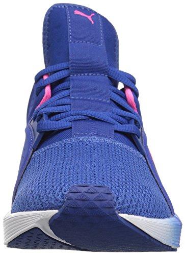 Puma Womens Fierce Lace Wns Cross-Trainer Shoe True Blue-knockout Pink