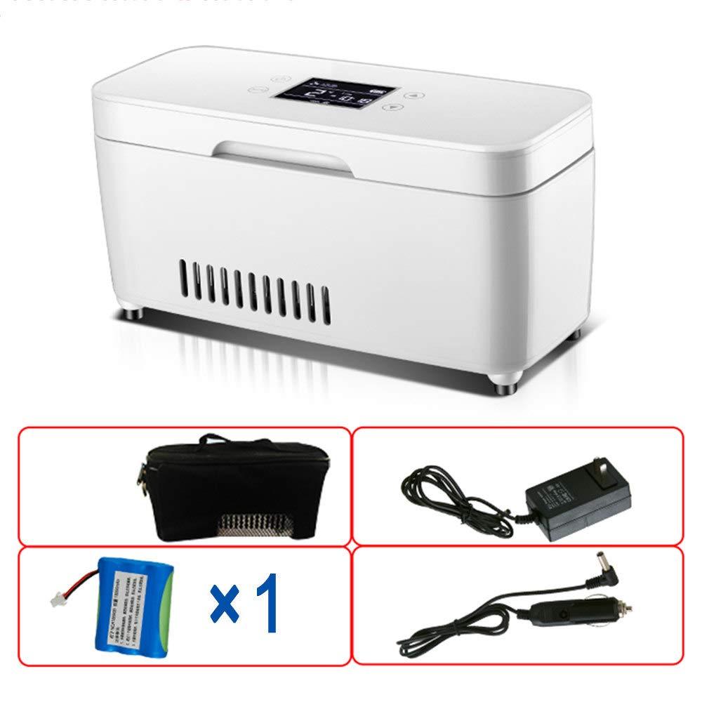 ミニインスリンクーラー、旅行薬クーラー、マイクロドラッグ冷蔵ボックス、インテリジェントサーモスタット28°Cカーホームポータブル冷蔵庫,Singlebattery B07TZ8VZBY Singlebattery