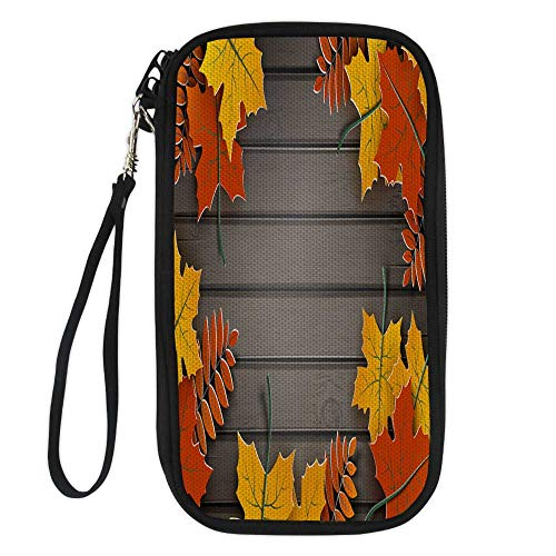 wallet for passportpassport organizer walletAutumn paper background colorful tree leaves on wooden backdrop design for fall season banner poster or thanksgiving day greeting 9.1