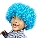 Wigs For Party, Party Disco Funny Afro Clown Hair Football Fan-Kids Afro Masquerade Hair Wig  I