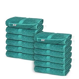 Chakir Turkish Linens Turkish Cotton Luxury Hotel & Spa Bath Towel, Wash Cloth - Set of 12, Aqua (B06W9KK2KW) | Amazon price tracker / tracking, Amazon price history charts, Amazon price watches, Amazon price drop alerts