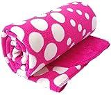 Brandonn Newborn Polka Wrapping Sheet Cum Baby Blanket for Babies / Wrapper For newborn( 75 cm x 98 cm)