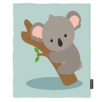 Amazon.com: Moslion Koala - Manta de franela cálida, diseño ...