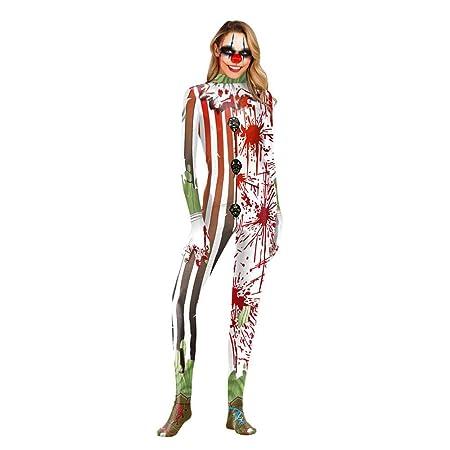 LerLop Halloween Mono Esqueleto Mujer Disfraz Cosplay Impresión 3D ...
