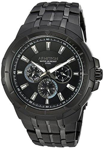 Armitron Men's 20/5144BKTI Multi-Function Black Bracelet Watch - Mens Multifunction Bracelet Watch