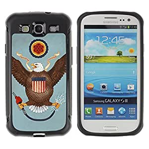 Hybrid Anti-Shock Defend Case for Samsung Galaxy S3 / USA Flag