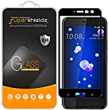 """[2-Pack] Supershieldz for HTC """"U11"""" Tempered Glass Screen Protector, [Full Screen Coverage] Anti-Scratch, Bubble Free, Lifetime Replacement Warranty (Black)"""