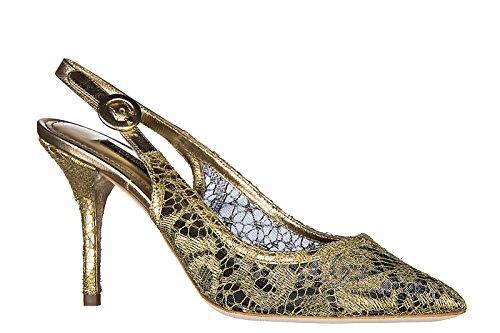 Dolce&Gabbana sandalias de tacón mujer nuevo bellucci oro