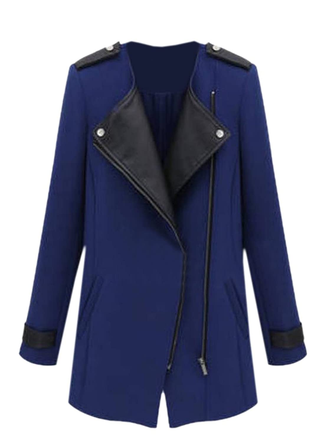 Tootless Women's Casual Fashion Long Sleeve Long Trench Coat